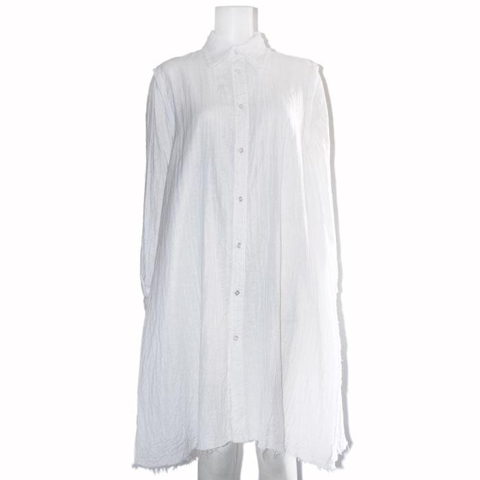 ダブルガーゼAラインロングシャツ