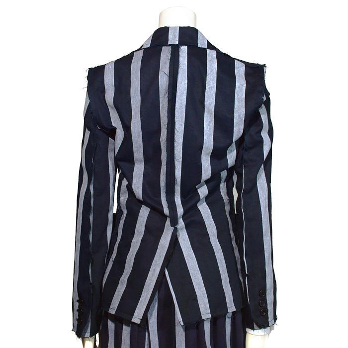 刺繍エンブレム付き ロンドンストライプジャケット