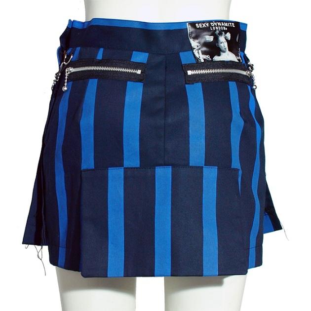 ロンドン ストライプ ボンテージスカート-london stripe bondage skirt-