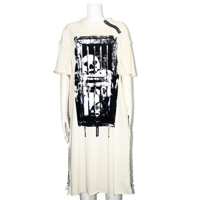 dark prison zip カットソーワンピース