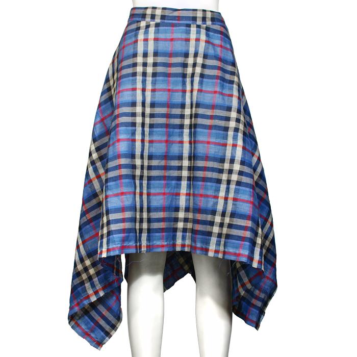 マドラスチェックバックタックドスカート