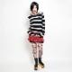 【予約商品】プリーツタータンミニスカート(裾レース付きアンダースカート)