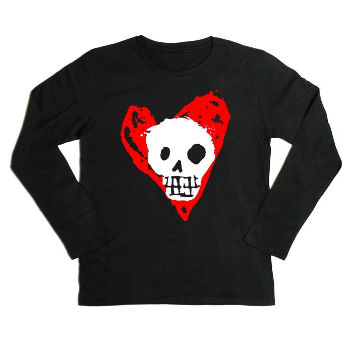 BLACK FREIGHTER ハートインスカル 長袖Tシャツ