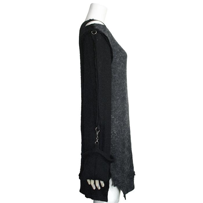 ガーゼシャツ風モヘアセーター