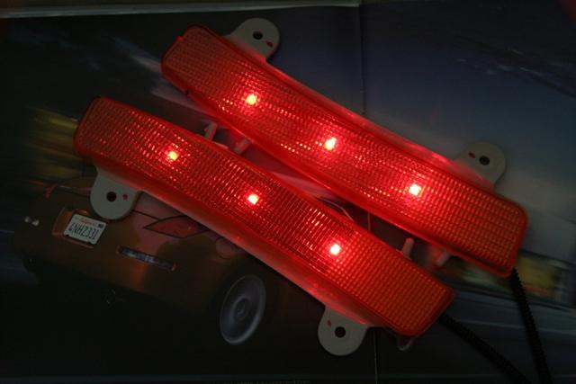 フェアレディZ33前期 レッドLED side reflector Ruby