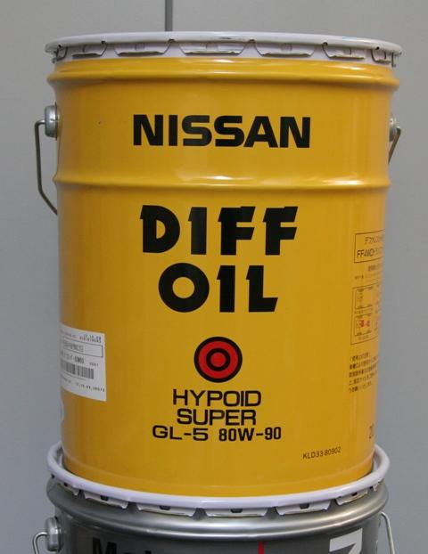 日産純正 デフオイルハイポイドスーパー GL-5 20L缶