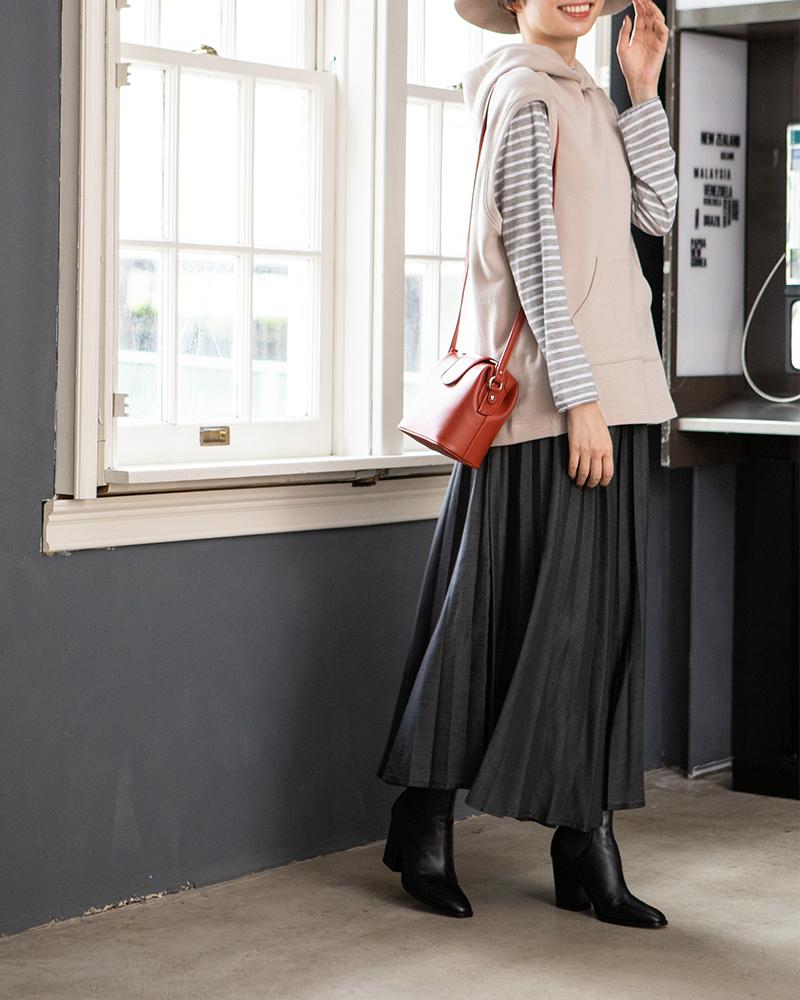 【NEW】テンセルデニムプリーツスカート(BOUNCY BOND)