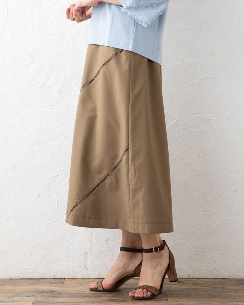 【NEW】はしごレースアクセントスカートに見えるパンツ