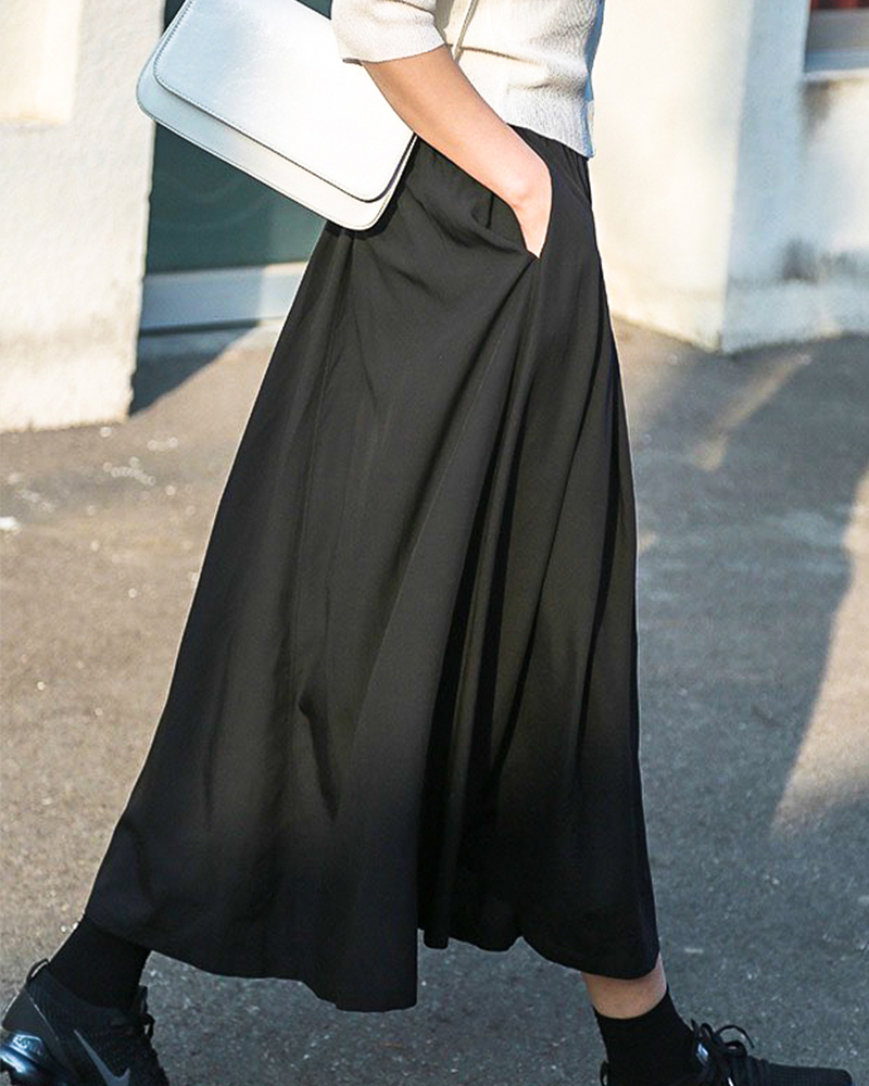 【NEW】ウエストゴムふんわりギャザースカート