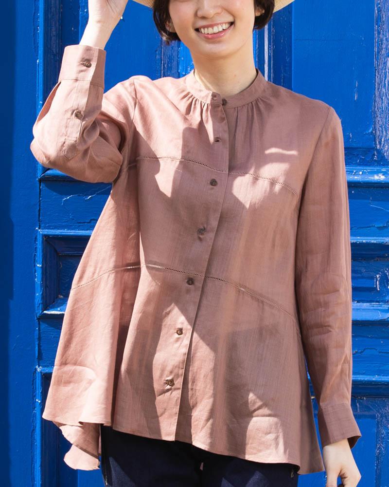 はしごレース切り替えフレアーティアードシャツ(BOUNCY BOND)(7月31日までの限定価格)