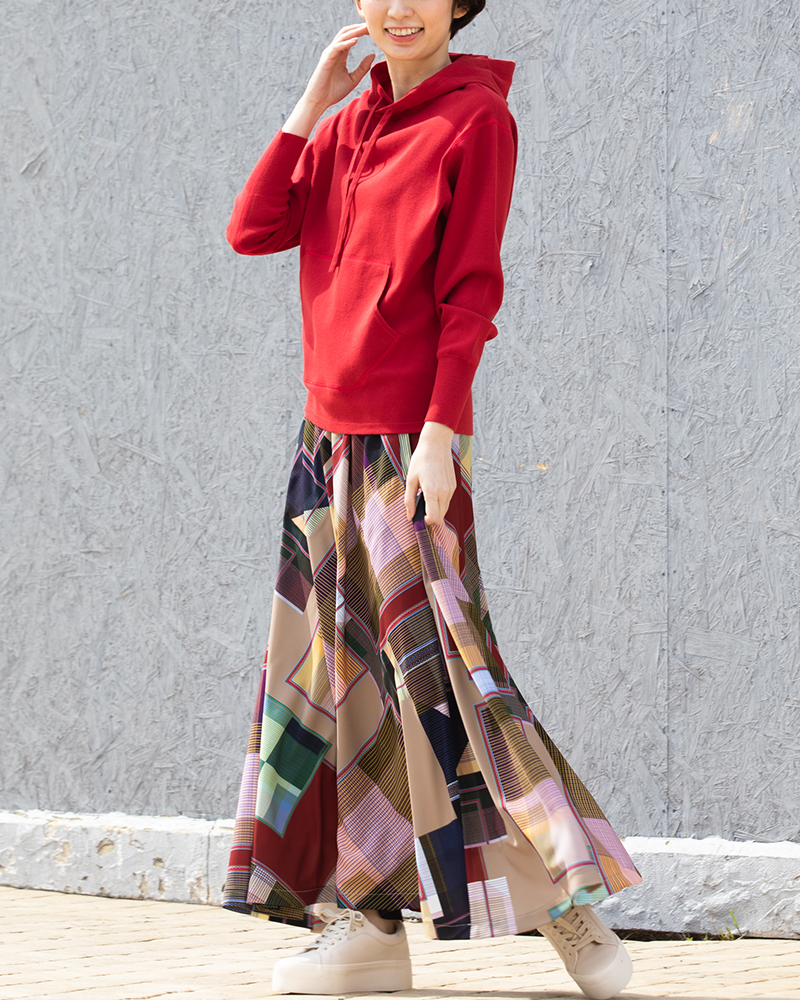 【NEW】イタリア製プリントデザインフレアスカート(BOUNCY BOND)