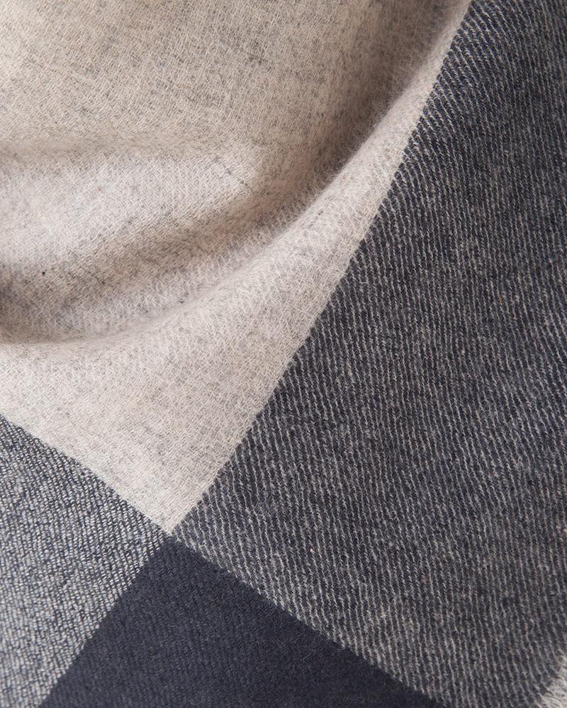 梳毛カシミヤ四方配色綾織ウォッシャブルストール