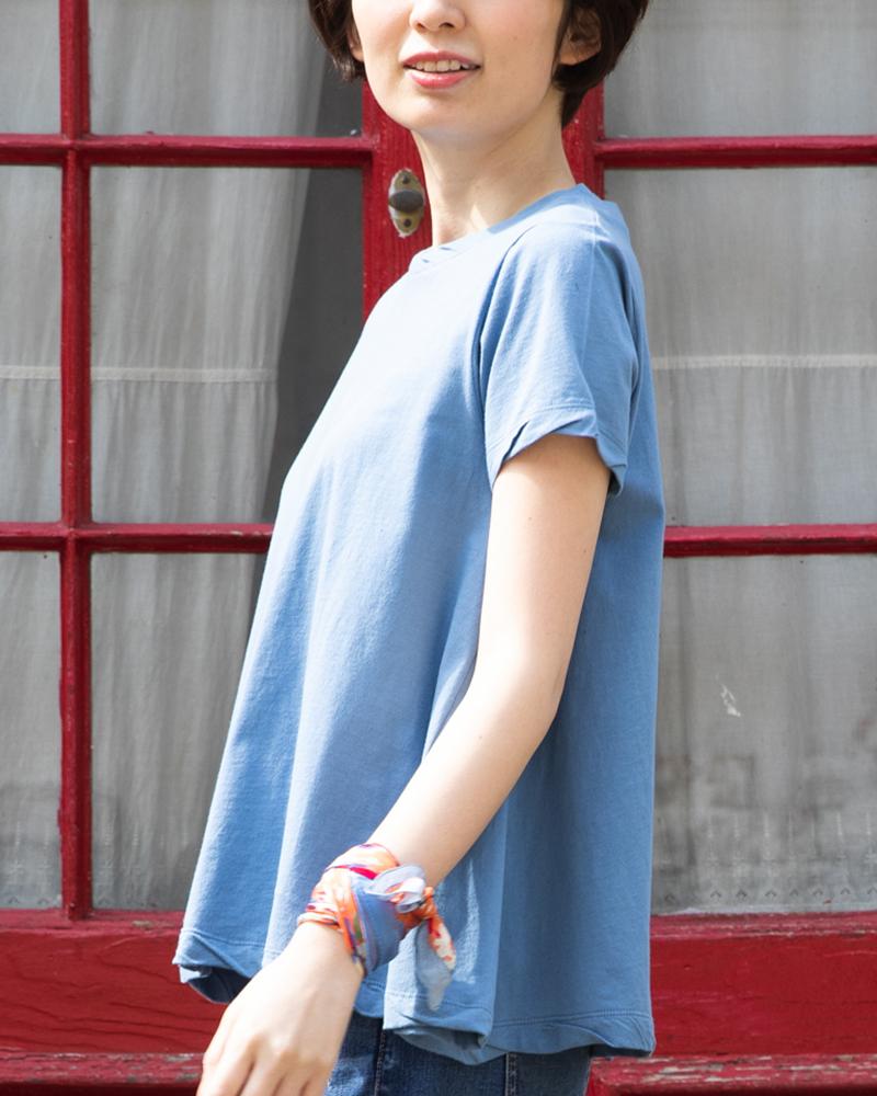 【NEW】オーガニックコットンこだわりのツイストデザインTシャツ(BOUNCY BOND)