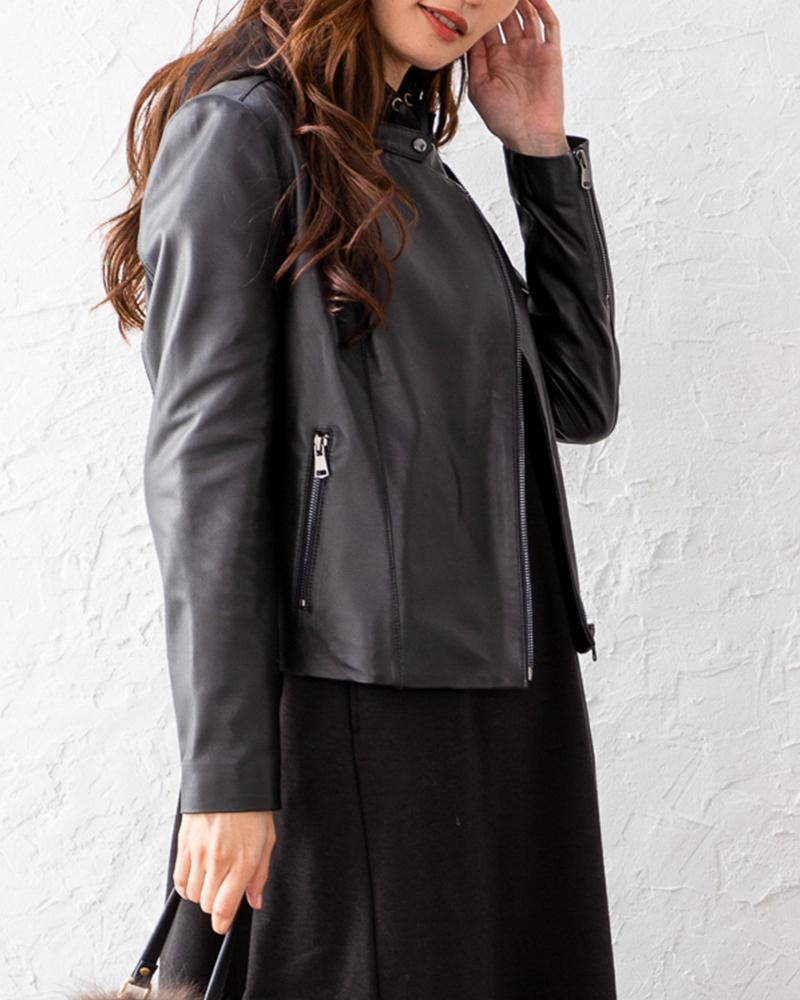 【NEW】ラムレザーライダースジャケット