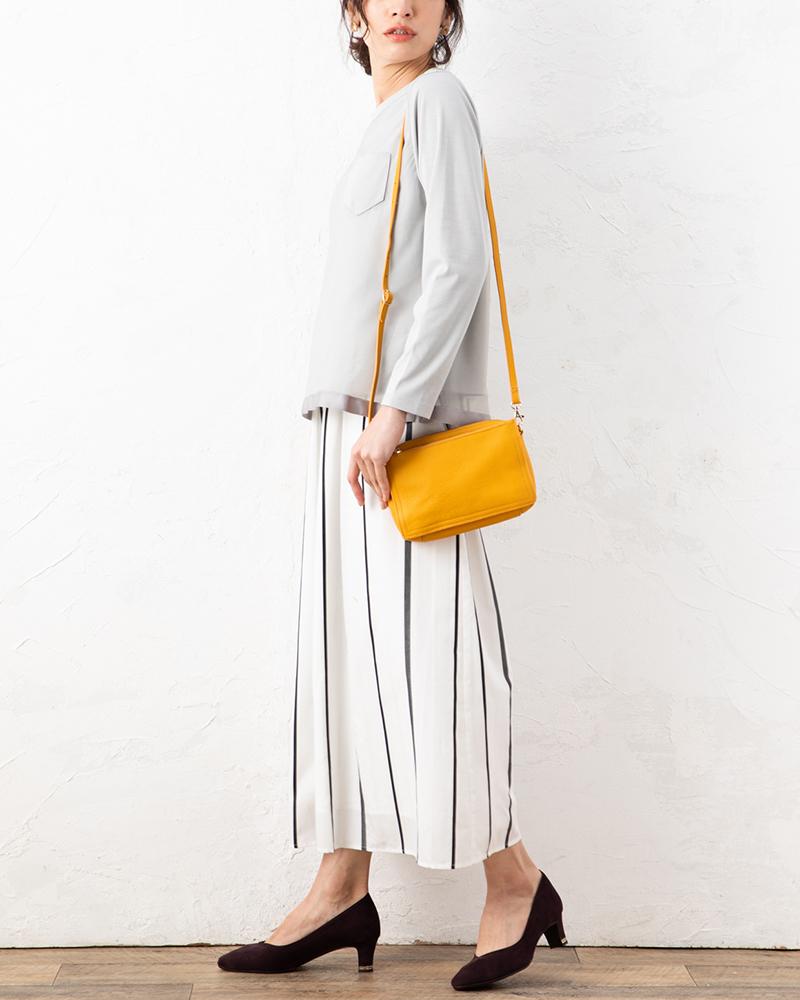 ジャガードストライプスカート風パンツ