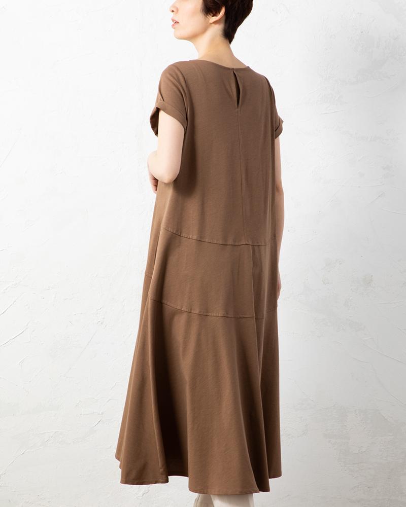 【NEW】度詰め天竺ステッチアクセントサマードレス(BOUNCY BOND)(7月31日までの限定価格)