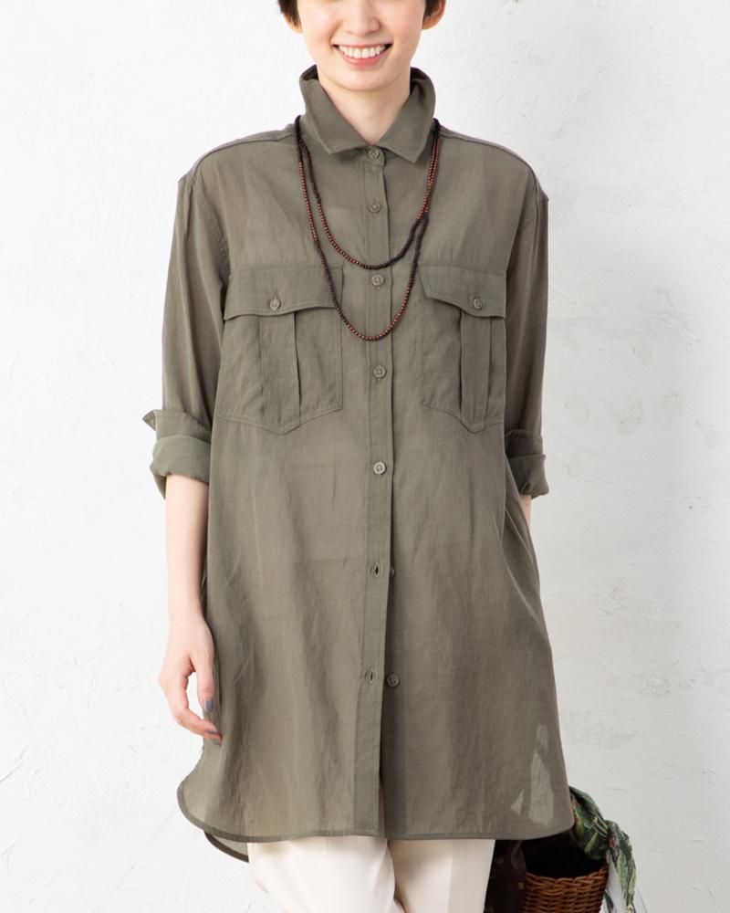【NEW】ドライダンガリーワイヤー入りロングワークシャツ(BOUNCY BOND)(7月31日までの限定価格)