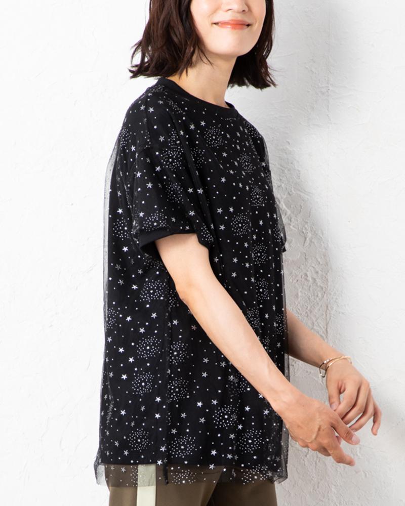 【NEW】チュールレイヤードビックTシャツ(7月31日までの限定価格)