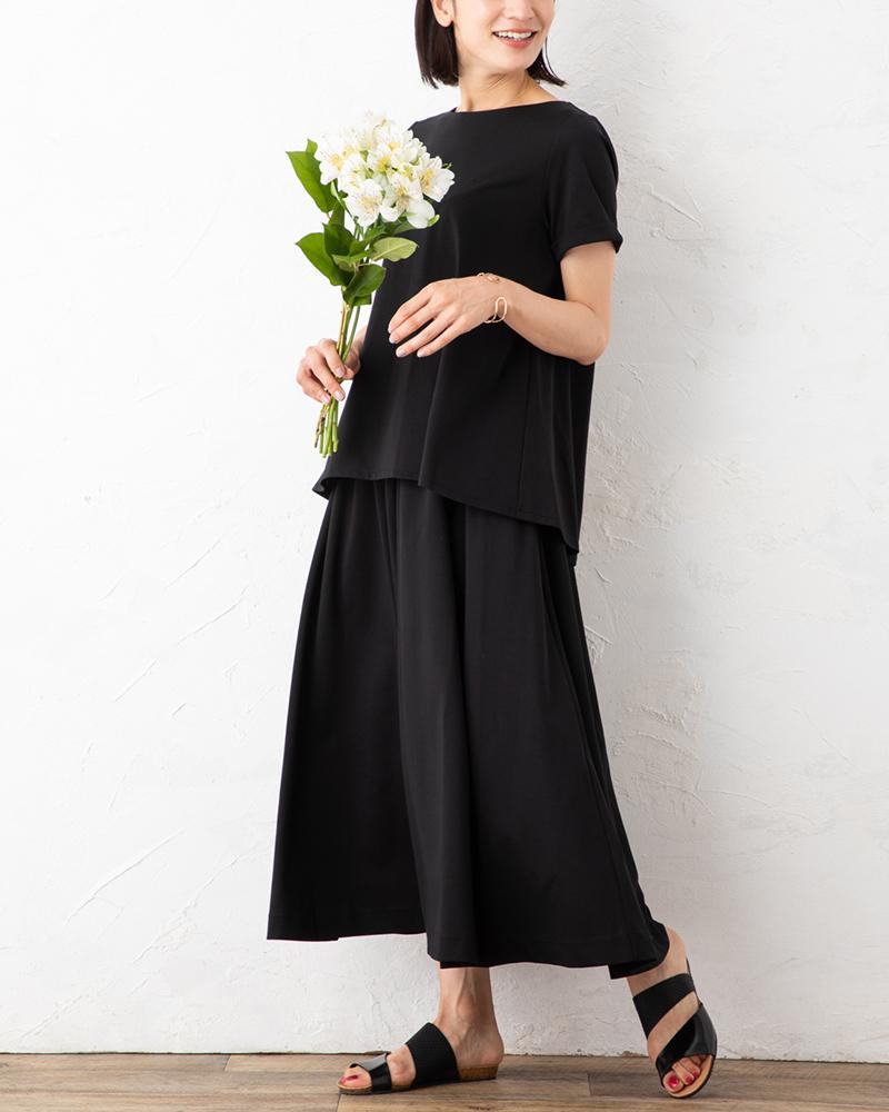 【NEW】エグゼクティブジャージーフレアースカート(7月31日までの限定価格)