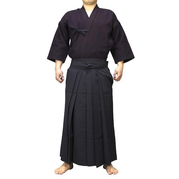 色止紺一重剣道衣+特製ポリエステル剣道袴セット