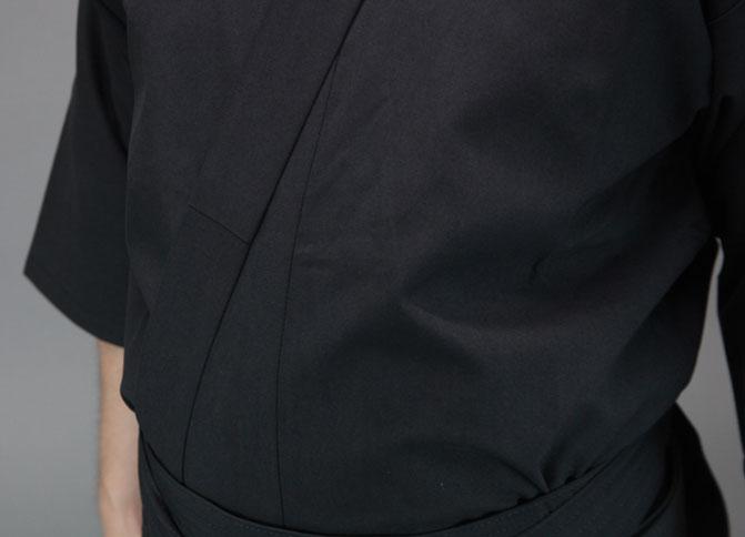 徳用おくみ付居合道衣・袴セット※上衣黒2号3号4号5号完売