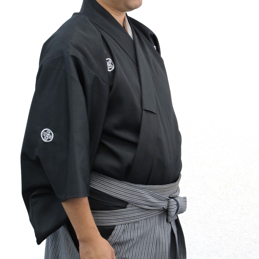 最高級ポリエステル居合道衣(紋付用着物袖)
