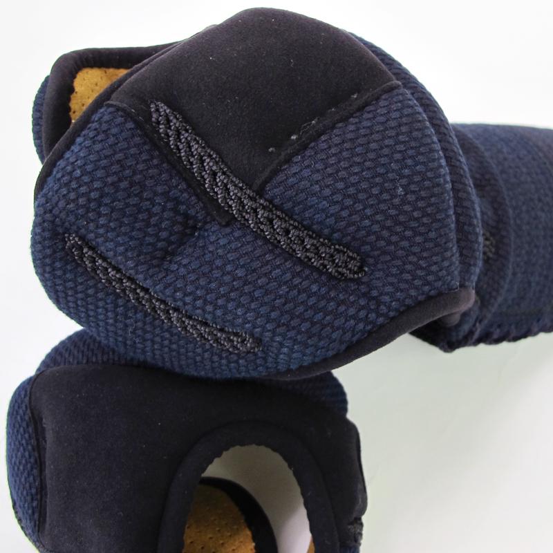 日本製5ミリミシン刺紺奴甲手「木鶏」