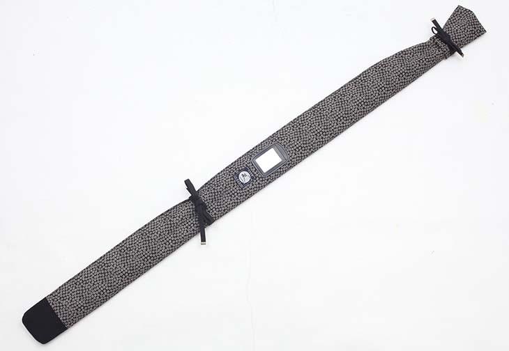 小桜柄帆布製杖・木刀袋 背負い紐付