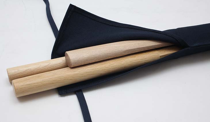8号帆布杖・木刀袋 短刀入れ/背負い紐付