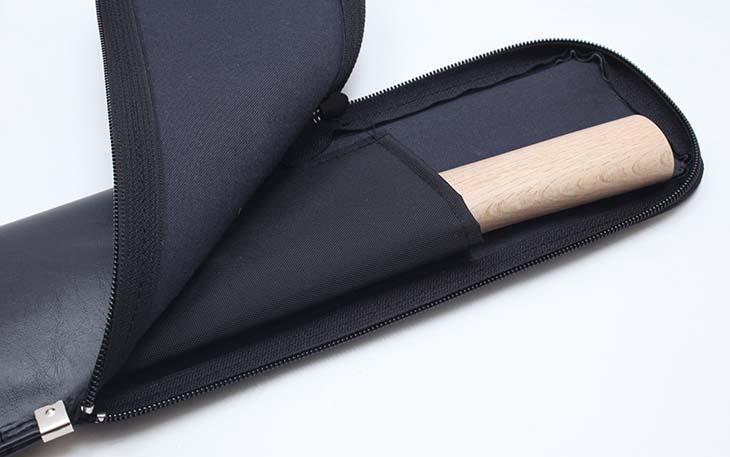 合皮チャック式杖・木刀袋 短刀入れ/背負い紐付