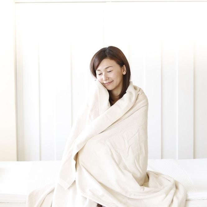 電気掛敷オーガニックコットン毛布