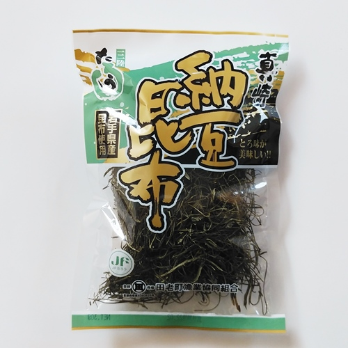 【三陸応援】無添加「納豆昆布」50g