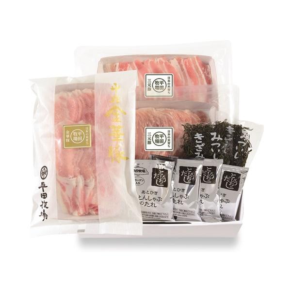 【冷凍】金華豚・三元豚 合い盛りしゃぶしゃぶギフト(JHS-23)