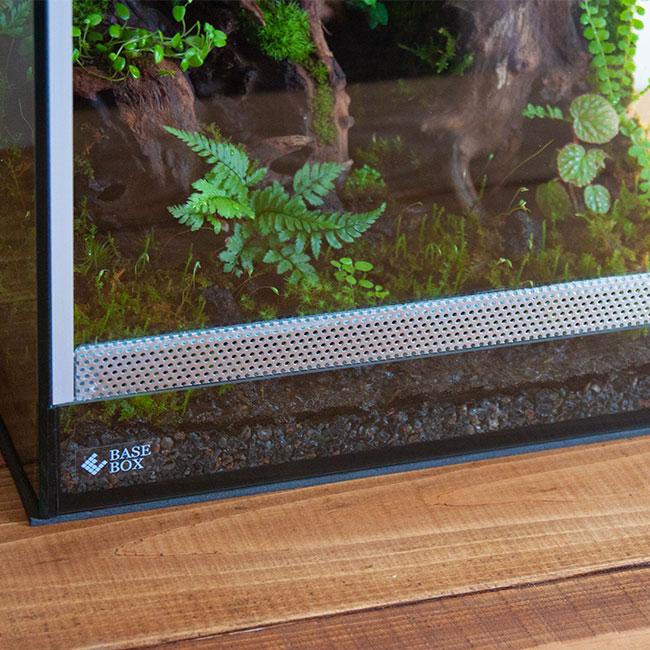 BASE BOX / ベースボックス PD-001/PD-001-B用 前面ガラス ( アルミメッシュ付/穴径1mm ) [ ※ガラスケージ本体は含まれません ]