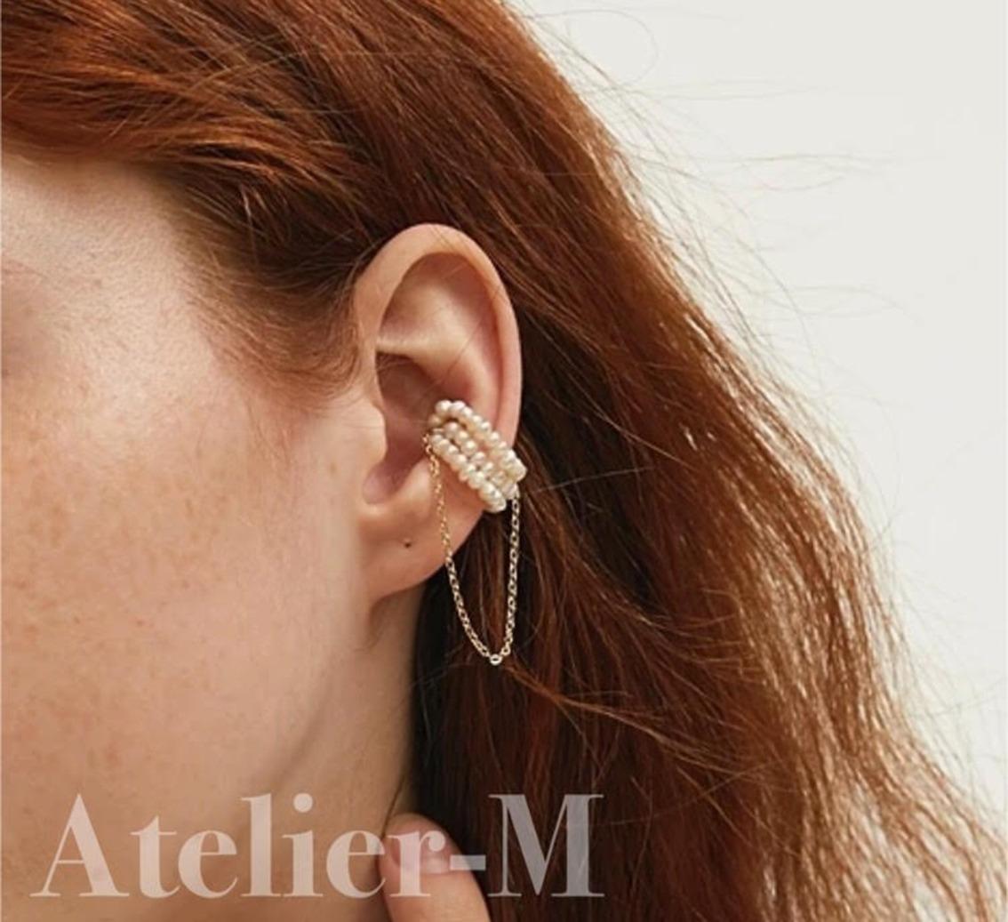 B251 Fresh Pearl Ear Cuff(片耳用)