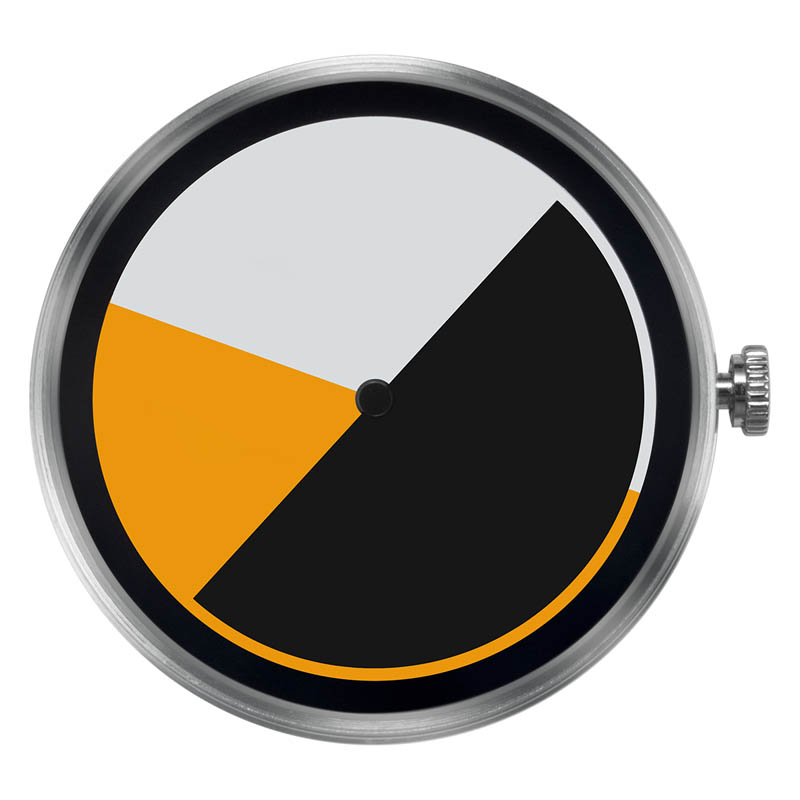 CLOCK BODY COLORED TIME YELLOW