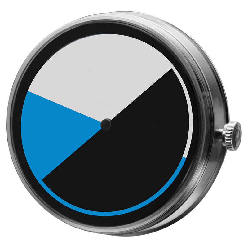 CLOCK BODY COLORED TIME BLUE