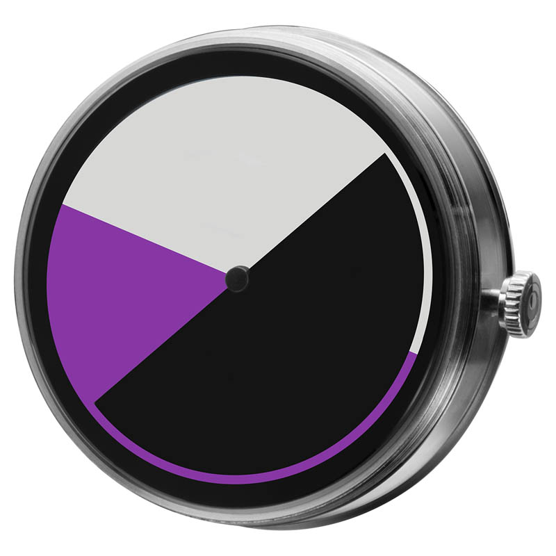 CLOCK BODY COLORED TIME PURPLE