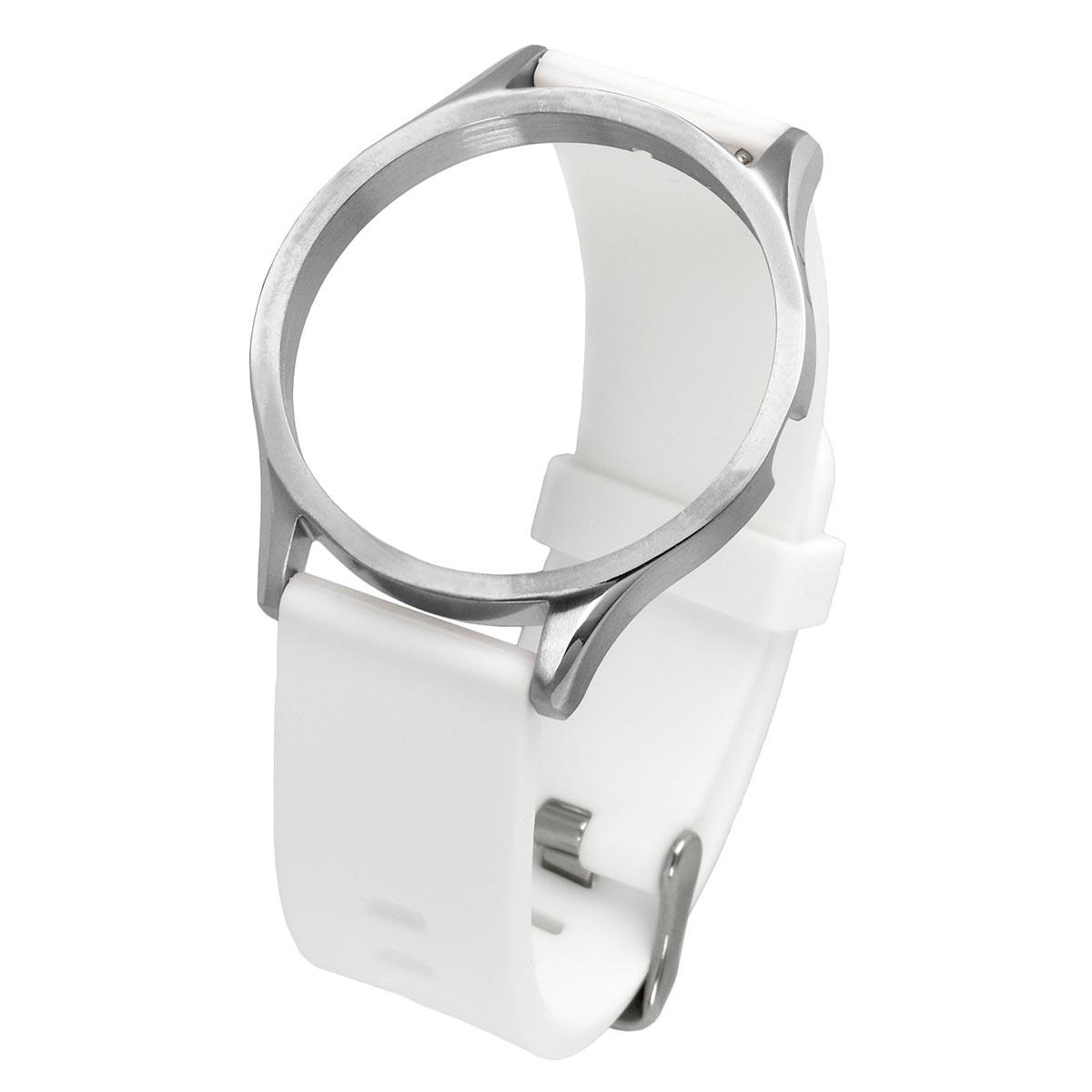 RUBBER STRAP SILVER-WHITE