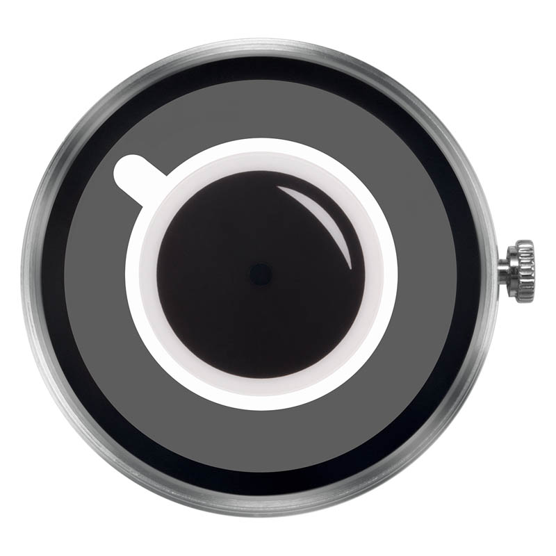 CLOCK BODY COFFEE TIME WHITE