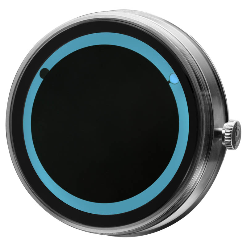 CLOCK BODY PLANET ECLIPSE BLUE
