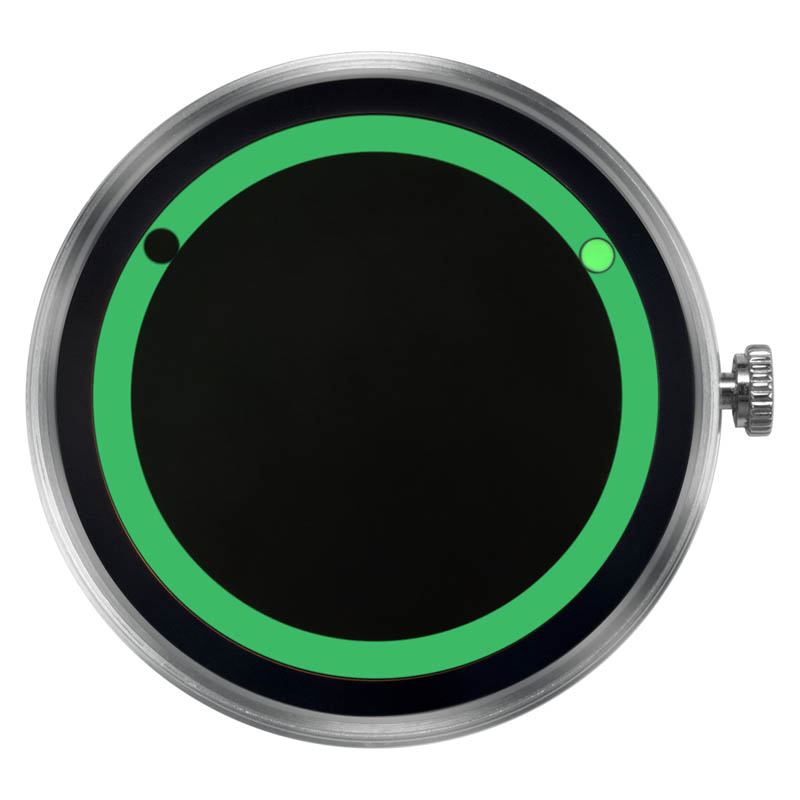 CLOCK BODY PLANET ECLIPSE GREEN
