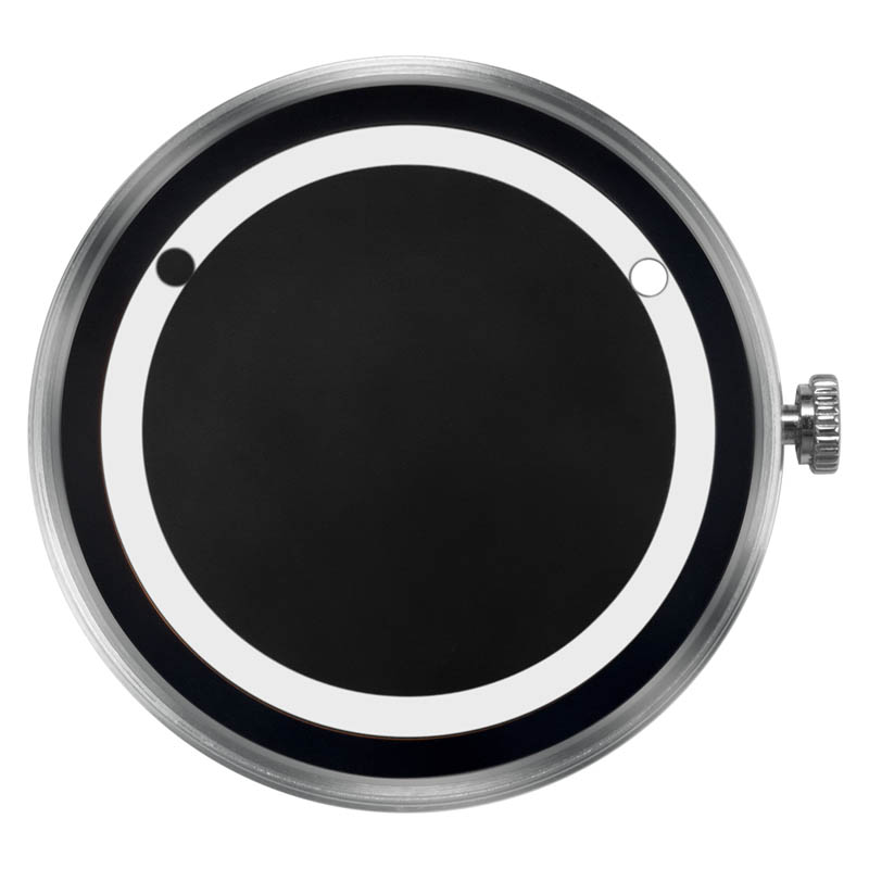 CLOCK BODY PLANET ECLIPSE WHITE