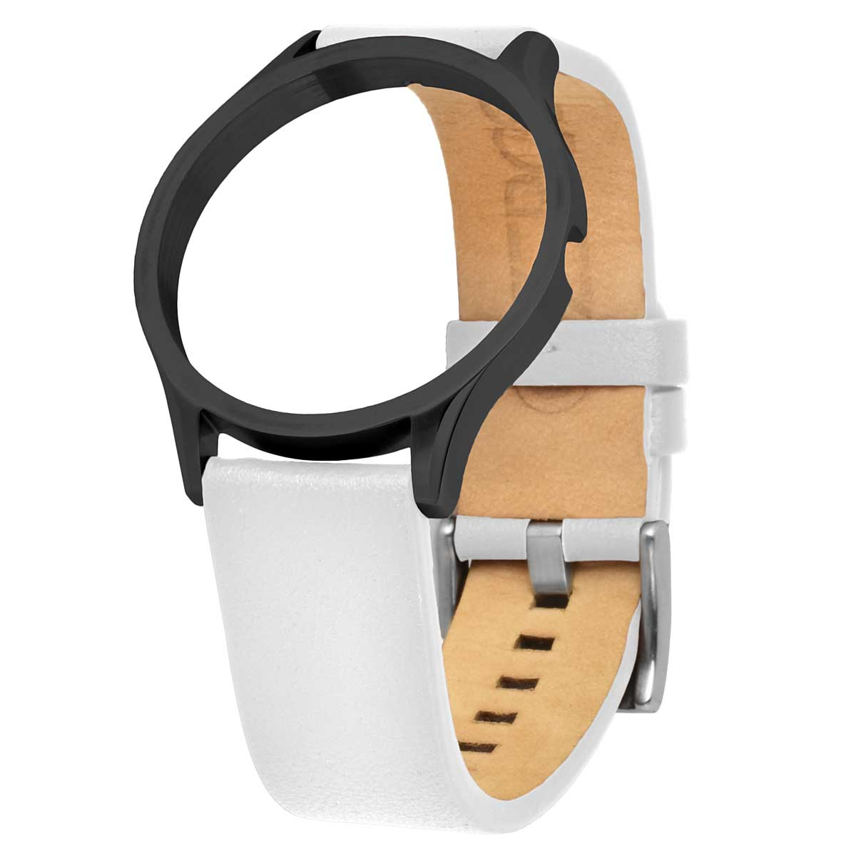 LEATHER STRAP BLACK-WHITE