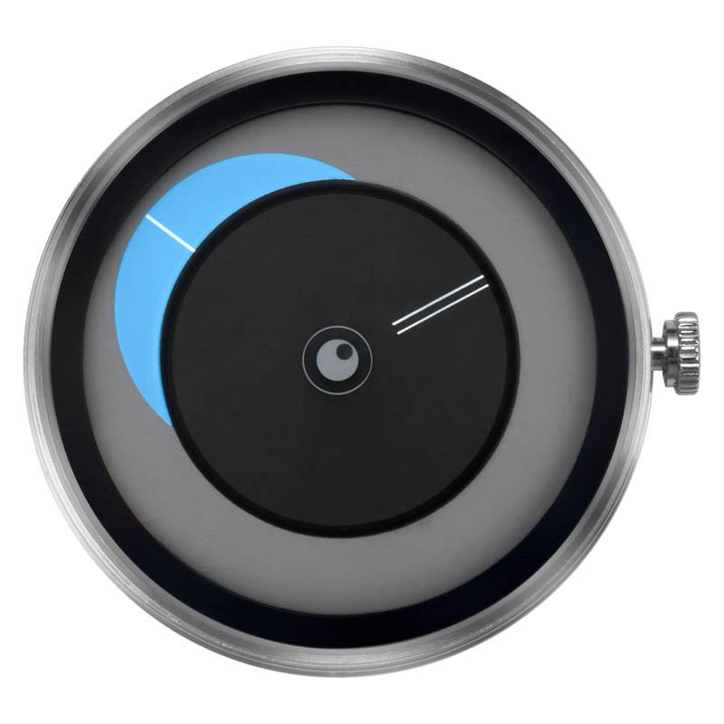 CLOCK BODY CRESCENT MOON BLUE