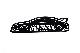デザインステッカー ブラック DS-1  180x53mm シールタイプ