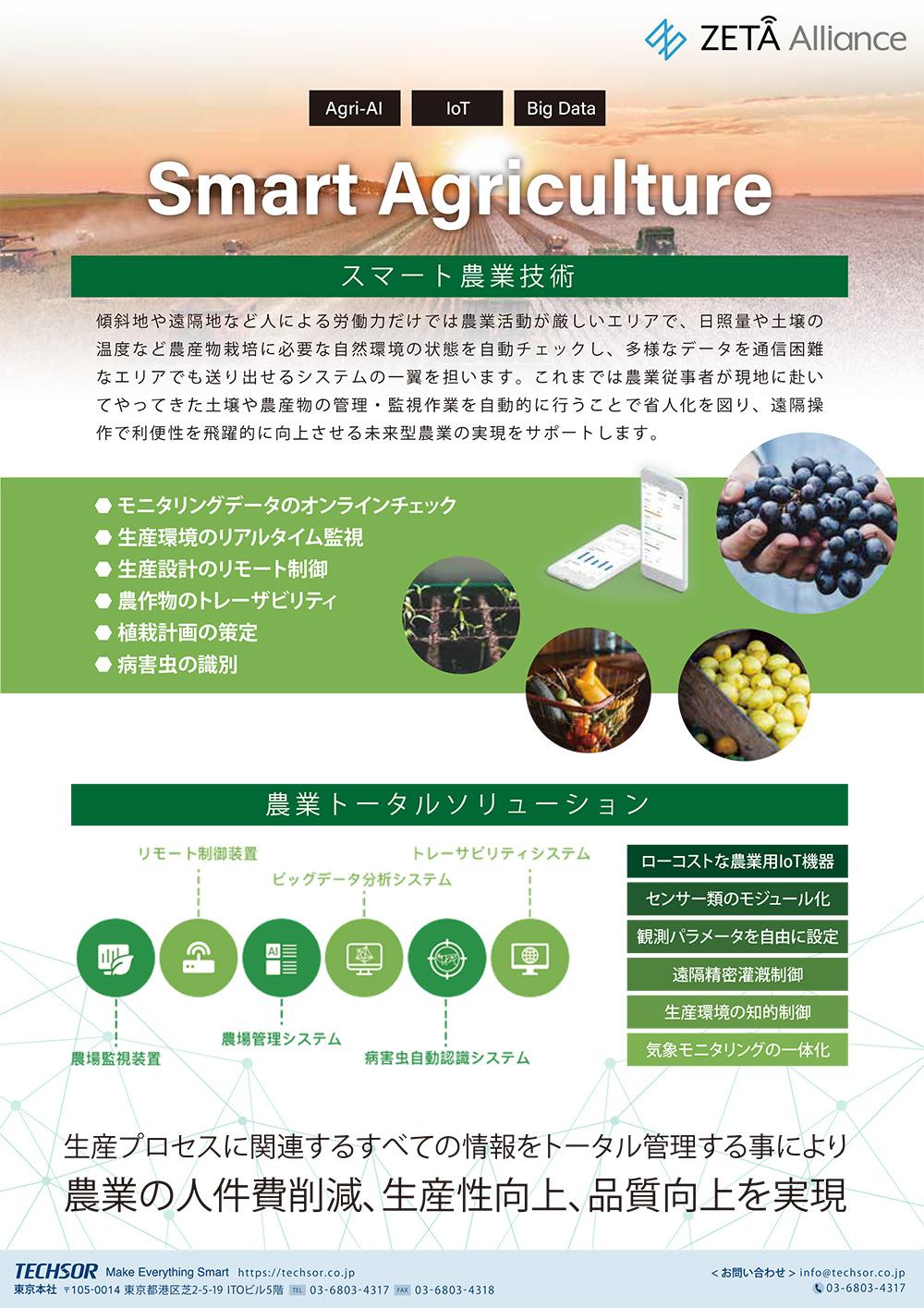スマート農業プラットフォーム /TSAGPTF001