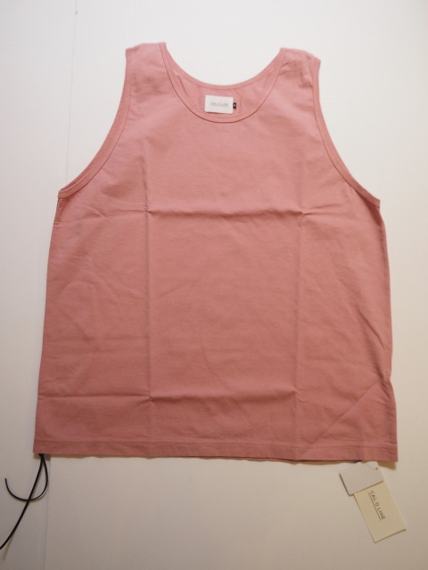 CAL O LINE ( キャルオーライン ) / SOLID COLOR TANK TOP  / 2020SS / Old Pink