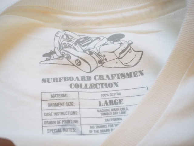 """SURFBOARD CRAFTSMEN COLLECTION / """"FLOG"""" T-SHIRTS / Moonlight Glassing Co. / WHITE"""