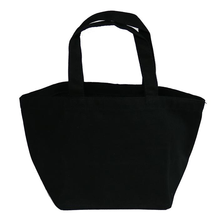 ゆめ花のお絵かき「親子」のランチバッグ(黒)